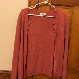 Pink Labswool Vineyard Vines Cardigan Sweater